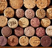 Picture closely wine corks