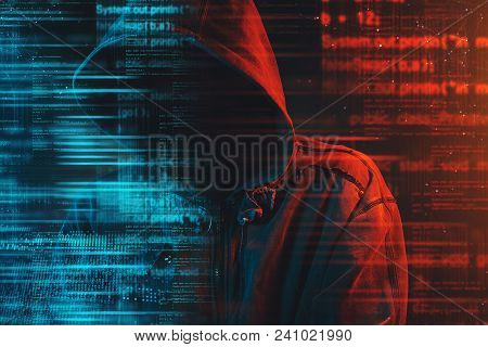 Stereotypical Image Of Computer Hacker