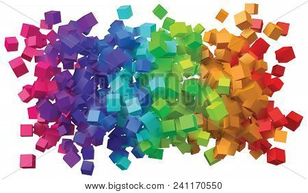 Abstract Design With Colorful Cubes