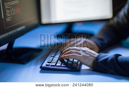 cybercrime hacking and technology concept