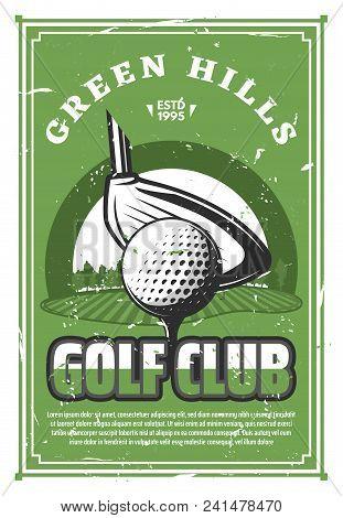 Golf Club Vintage Banner For
