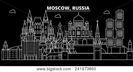 Moscow City Silhouette Skyline Russia
