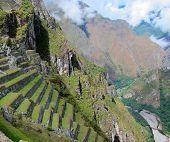 Machu Picchu and river valley, Peru