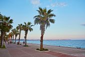 Panoramic View Of Beautiful Blue Lagoon And Konyaalti Beach In Popular Resort City Antalya, Turkey.  poster
