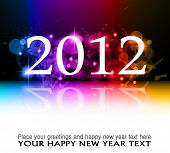 2012 New Year celebration background for cover, Flyer or poster with glitter elements and rainbow co