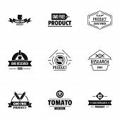 Gmo Resistance Logo Set. Simple Set Of 9 Gmo Resistance Vector Logo For Web Isolated On White Backgr poster