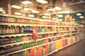 Abstract Blurred Soft Drinks Aisle In American Store poster
