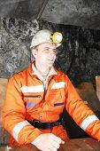 Minero sonriente
