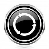 Rered blue round webyellow glossy web black silver metallic chrome border glossy round web icon poster