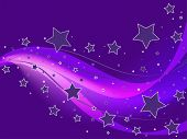 Purple Stars Background