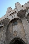 picture of avignon  - UNESCO World Heritage Site front facade The Palais des Papes  - JPG