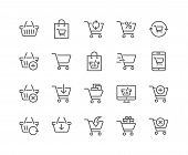 Simple Set Of Shopping Cart Related Vector Line Icons. Contains Such Icons As Express Checkout, Mobi poster