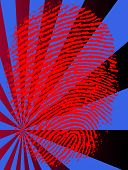 Red Vector Fingerprint on a fading background