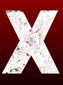 Fat Grunged Letters - X (Highly detailed grunge letter)