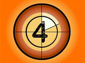Orange and Red Circle Countdown at No 4 - (Vector Format)