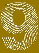 Fingerprint Number - 9 (Highly detailed grunge Number)