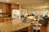 pic of home addition  - a comfortable home interior from kitchen to living room - JPG