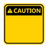 Symbol Caution Sign Icon,exclamation Mark ,warning Dangerous Icon On White Background poster
