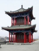 Building Upon The City Wall Of Xian