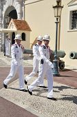 Three Monaco Soldiers Marching
