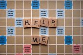 Spelling Game Says Help Me