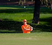 Rickie Fowler Blasts A Sand Shot