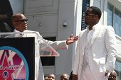 LOS ANGELES - MAY 2: Sean 'P Diddy' Combs (R) at a ceremony honoring him with a star on the Hollywoo