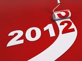 2012 New Year And Paint Roller