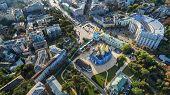 Aerial View On Mikhaylovsky Zlatoverkhy The Monastery. poster