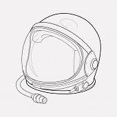 Astronaut Helmet Icon Line Element. Vector Illustration Of Astronaut Helmet Icon Line Isolated On Cl poster
