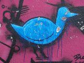 Graffiti-Vogel