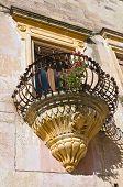 Historical palace. Corigliano d'Otranto. Puglia. Italy.