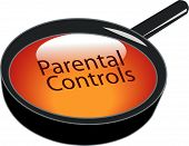 Magnifying Glass Over Parental Controls Button