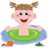 Swimmer funny girl.