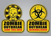 picture of biohazard symbol  - Zombie Outbreak Biohazard warning signals - JPG