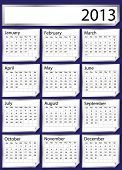 A 2013 calendar created with silver stickers. Space for text or Company name. EPS 10 vector format