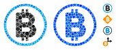Bitcoin Rounded Composition Of Round Dots In Various Sizes And Color Hues, Based On Bitcoin Rounded  poster