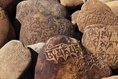 Tibetan Buddhist Mani Stones �¢�?�? stone with mantras
