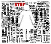 Word Collage on Stop Violence Against Women