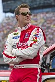 BROOKLYN, MI - JUN 17, 2012:  Trevor Bayne (21) races in the Quicken Loans 400 at the Michigan Inter