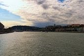 Panoramic View Of Picturesque Danube River And Buda Side With Chain Bridge And Buda Castle (royal Pa poster