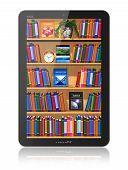 Bookshelf in tablet computer