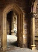 Historic Church Pointed Arch Detail poster