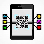 QR code on the smart phone