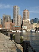 Historic Boston Harbor Waterfront Vertical poster