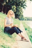 Literature. Inspired By Novel Author. Interesting Story. Relax And Get New Information. Student Girl poster