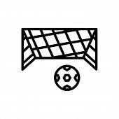 Black Line Icon For Net Mesh Snare Toils Netting Ball Soccer-ball poster