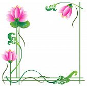 Frame with lotuses