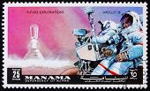 Postage stamp Manama 1972 Astronaut with Camera, Apollo 15