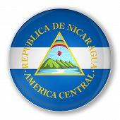Badge With Flag Of Nicaragua
